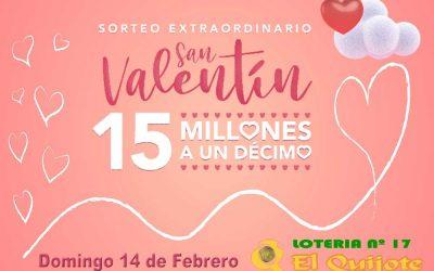14 Febrero, Sorteo Extraordinario de San Valentín