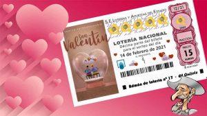 Domingo 14 de Febrero Sorteo Extraordinario de San Valentín, 15 millones de Euros a un solo décimo, para reavivar la pasión
