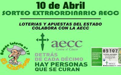 Sorteo Lotería Extraordinario AECC