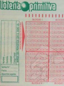 boleto antiguo lotería primitiva loteria 17 el quijote