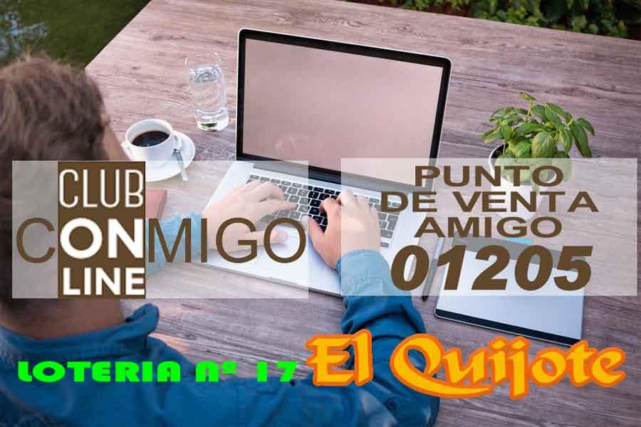 Club Conmigo Online 01205 Lotería 17 El Quijote