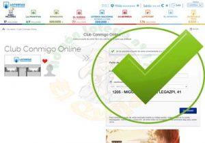 Número Verificado Punto de Venta Amigo Club Conmigo Online Lotería 17 El Quijote