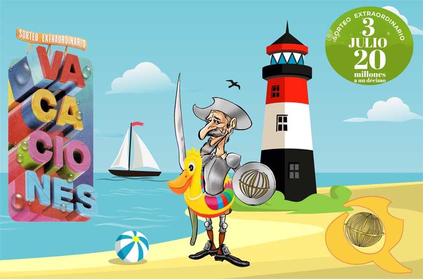Sorteo Extraordinario de vacaciones 2021 loteriasyapuestas El Quijote