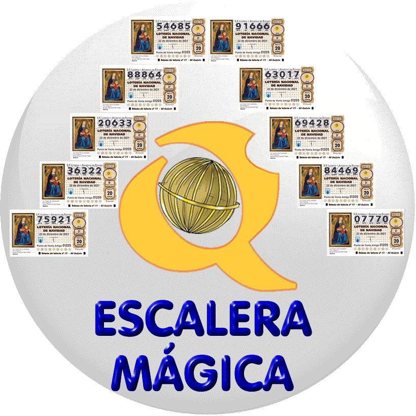 Bola escalera mágica lotería Navidad loteriasyapuesta El Quijote