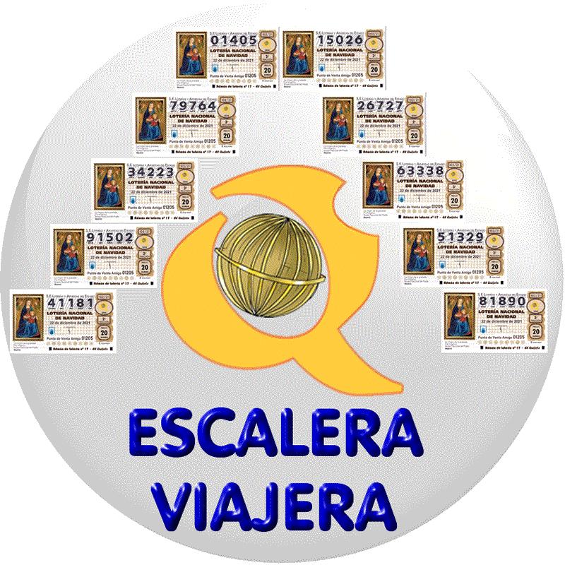 Bola escalera viajera lotería de naviadad loteriasyapuestas El Quijote