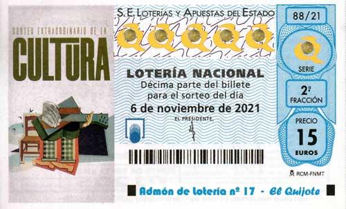 Décimo Sorteo Extraordinario de la Cultura loteriasyapuestas El Quijote