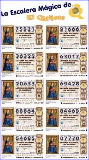 pack escalera mágica lotería de navidad loteriasyapuestas El Quijote