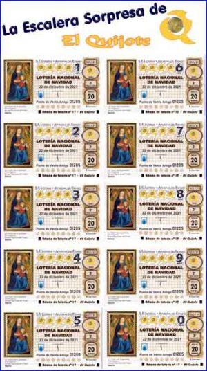 pack escalera sorpresa lotería de Navidad loteriasyapuestas El Quijote