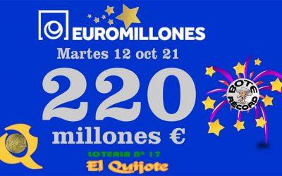 Bote Récord en Euromillones 220 millones
