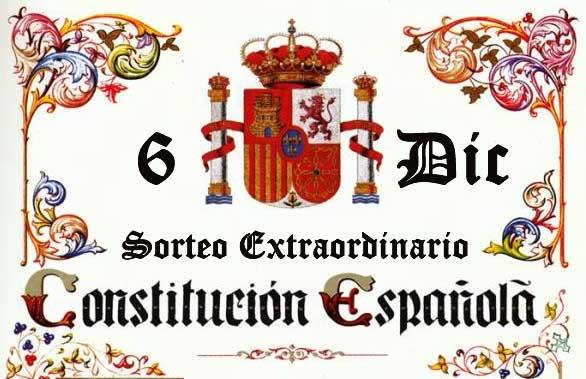 6 de diciembre Sorteo de la Constitución